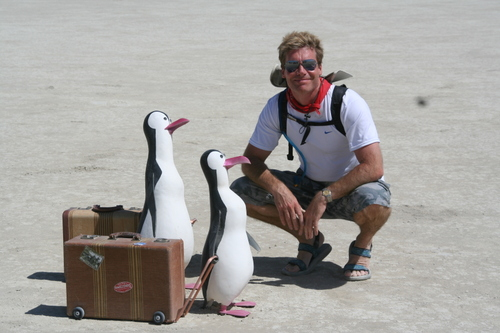 Chatting with some Desert Penguins
