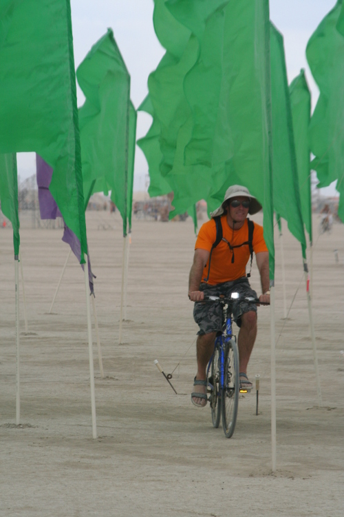 Weaving through Playa Flags