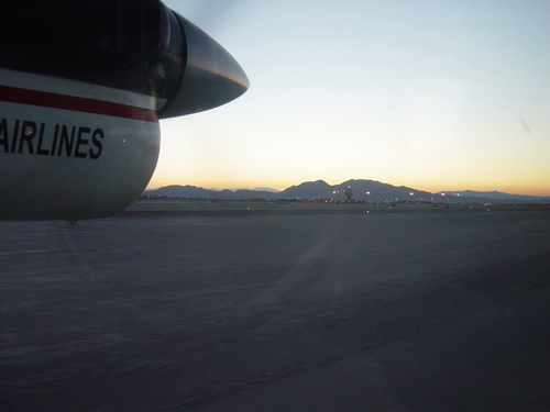 On the runway at Vegas