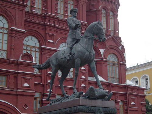 Statue of General Zhukov astride a Horse