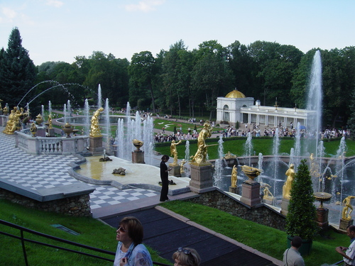 Fountains at Peterhof: The Great Cascade