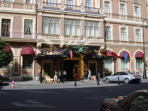 I stayed at the Grand Hotel Europe
